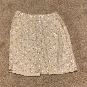 Like new J Crew silk sequined skirt
